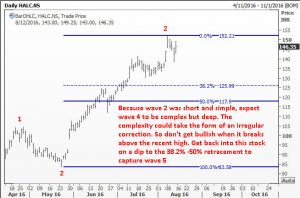 Wait for a wave 4 correction in Hindalco
